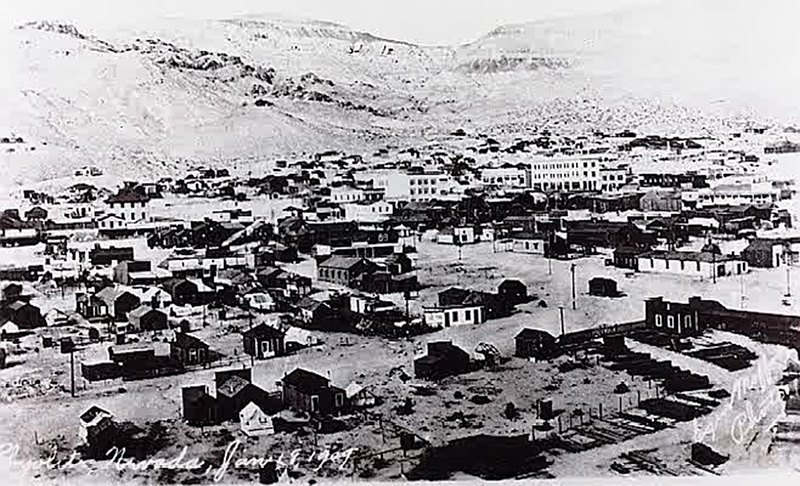 Rhyolite in 1909